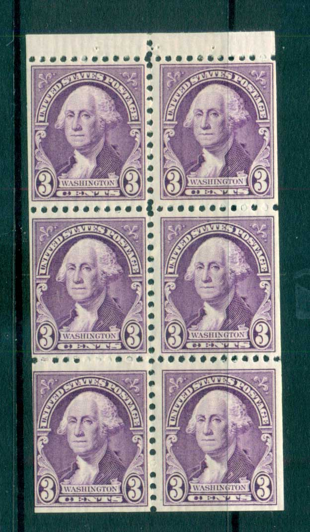 USA 1932 Sc#720a 3c Washington Booklet pane MUH lot72255