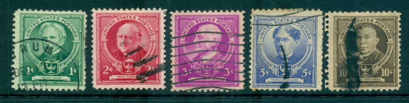 USA 1940 Sc#869-73 American Educators FU lot72321