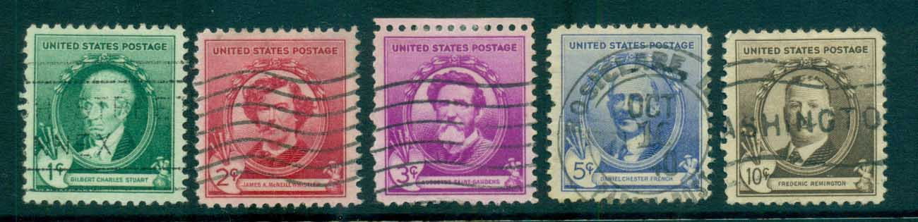 USA 1940 Sc#884-88 American Artists FU lot72326