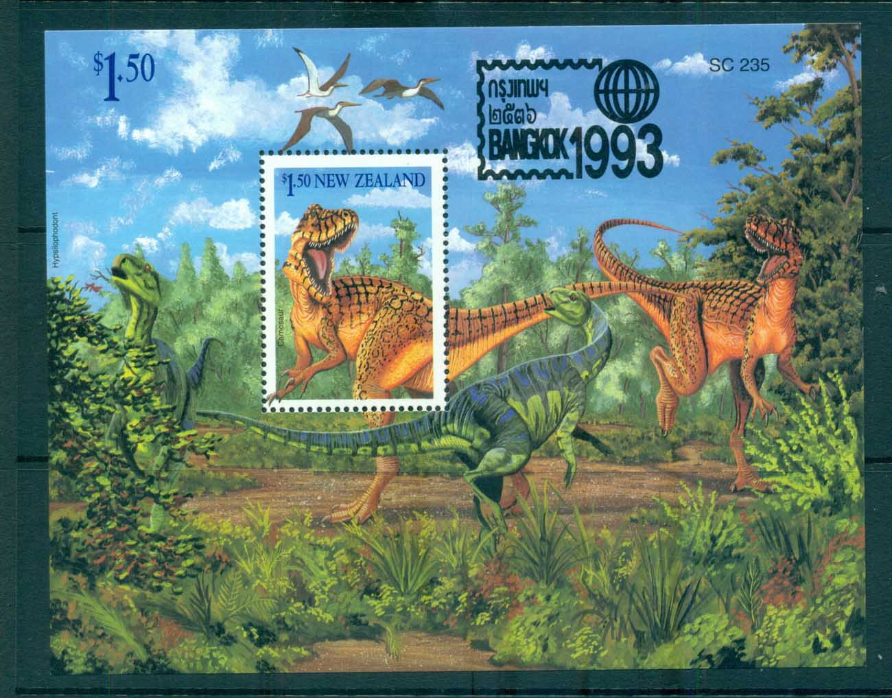 New Zealand 1993 Dinosaur, Bangkok '93 MS MUH lot72347