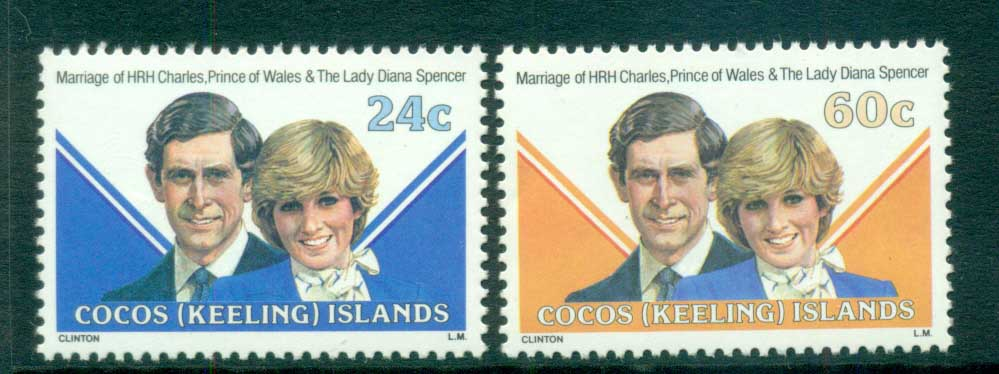 Cocos Keeling Is 1981 Charles & Diana Wedding MUH lot72411