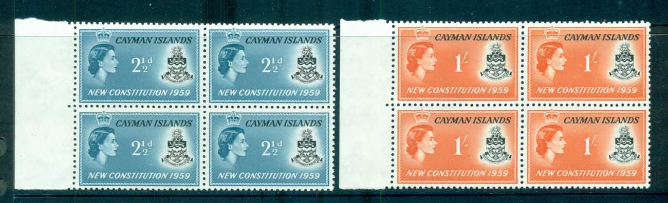 Cayman Is 1959 New Constitution Blk 4 MUH lot72487