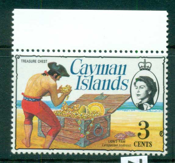 Cayman Is 1974-75 3c Pirate Treasure Chest Defin MUH lot72531