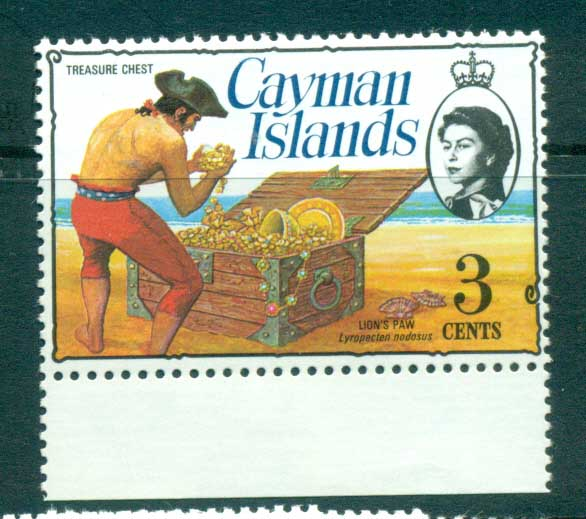 Cayman Is 1974-75 3c Pirate Treasure Chest Defin MUH lot72532