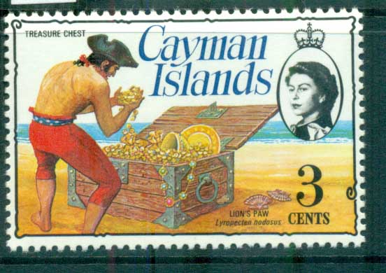 Cayman Is 1974-75 3c Pirate Treasure Chest Defin MUH lot72533