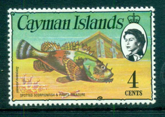 Cayman Is 1974-75 4c Spotted Scorpionfish Defin MUH lot72535
