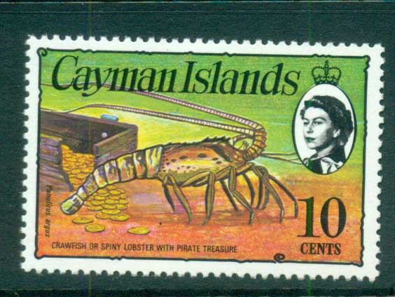 Cayman Is 1974-75 10c Spiny Lobster & Coins Defin MUH lot72538