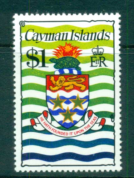 Cayman Is 1974-75 $1 Coat of Arms Defin MUH lot72544