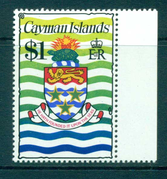 Cayman Is 1974-75 $1 Coat of Arms Defin MUH lot72545