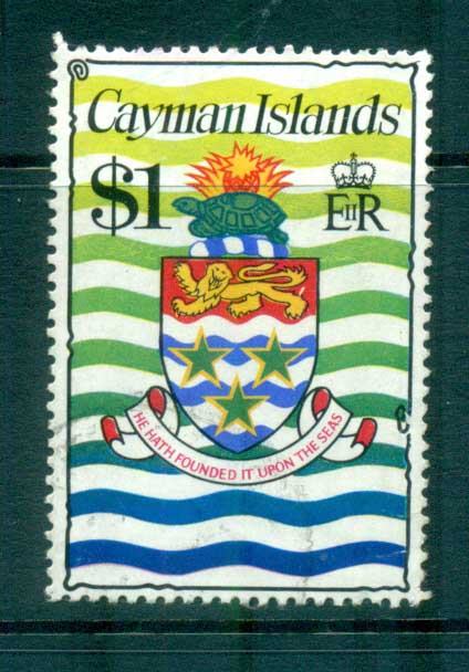 Cayman Is 1974-75 $1 Coat of Arms Defin FU lot72550