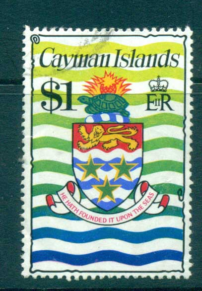 Cayman Is 1974-75 $1 Coat of Arms Defin FU lot72551