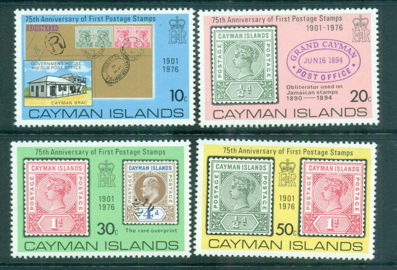 Cayman Is 1976 cayman Is Stamp Anniv MUH lot72558