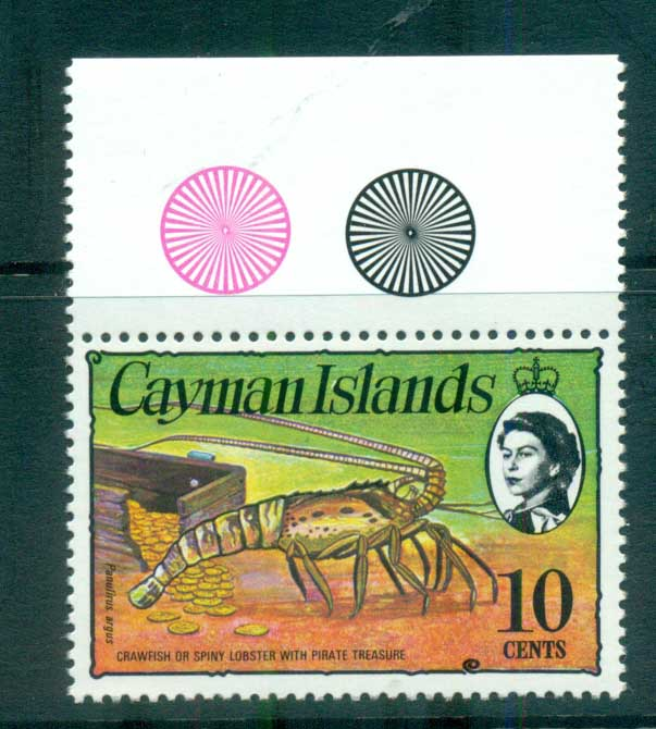 Cayman Is 1974-75 10c Spiny Lobster & Coins Defin MUH lot72571