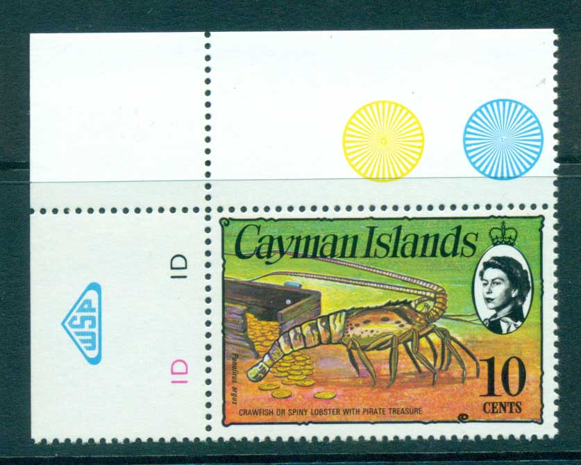 Cayman Is 1974-75 10c Spiny Lobster & Coins Defin MUH lot72572