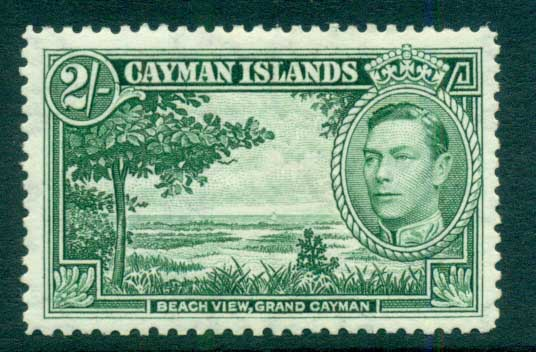 Cayman Is 1938-43 2/- Beach View Grand Cayman MLH lot72642