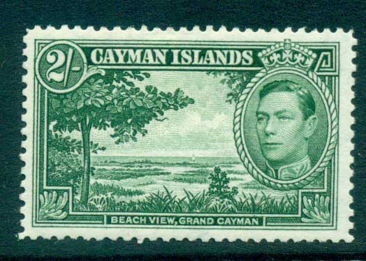 Cayman Is 1938-43 2/- Beach View Grand Cayman MLH lot72643