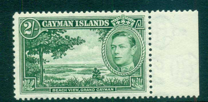Cayman Is 1938-43 2/- Beach View Grand Cayman MUH lot72644