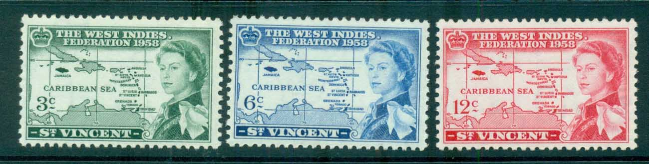 St Vincent 1958 West Indies federation MUH lot72685