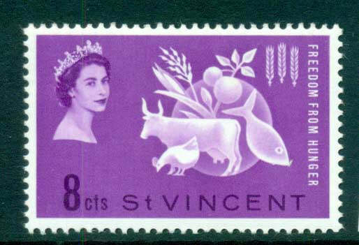 St Vincent 1963 FFH Freedom from Hunger MUH lot72687