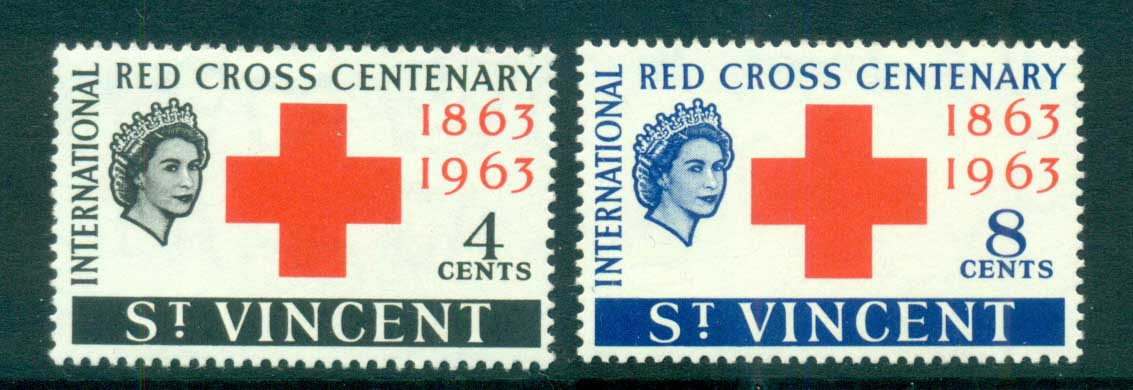 St Vincent 1963 Red Cross MUH lot72690
