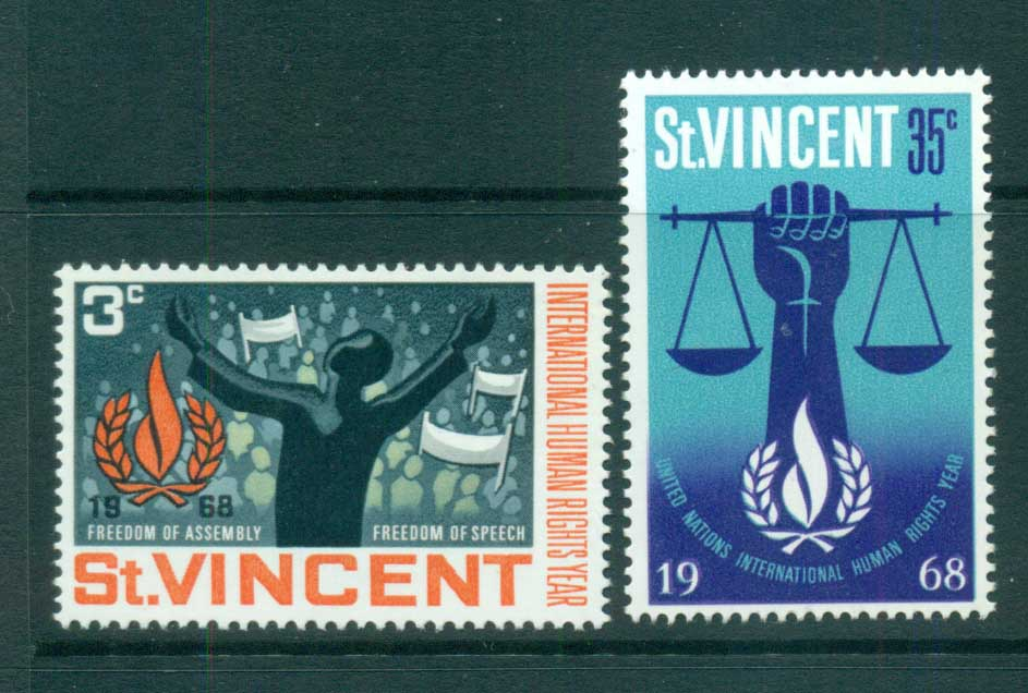 St Vincent 1968 Human Rights MUH lot72692