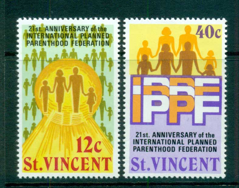 St Vincent 1973 Planned parenthood MUH lot72723