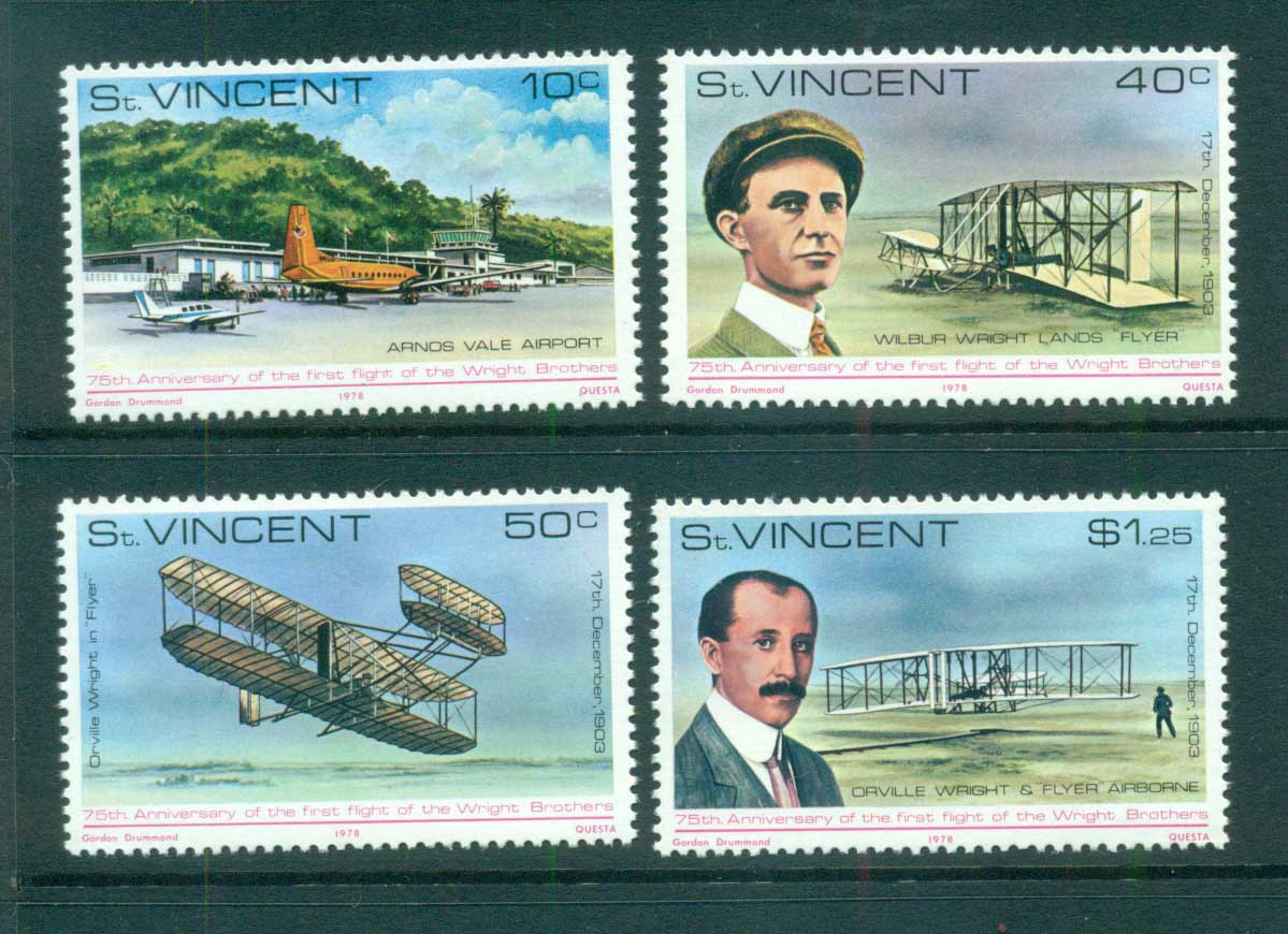 St Vincent 1978 Powered Flight 75th Anniv. MUH lot72764