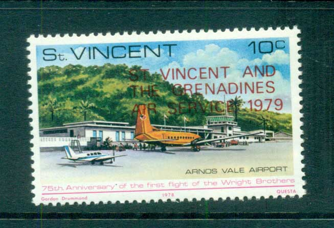 St Vincent 1979 Air Servive Opt MUH lot72770