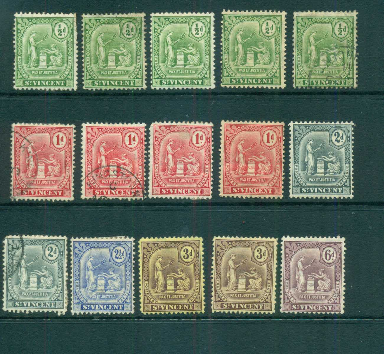 St Vincent 1909-11 Peace & Justice Assorted MH/FU lot72864