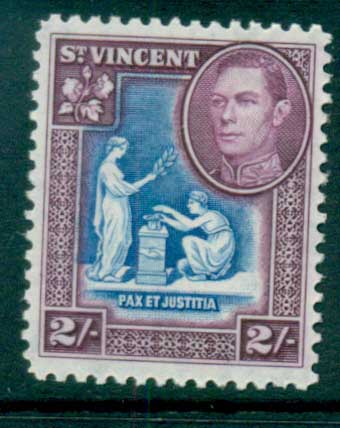 St Vincent 1938-47 KGVI Pictorial 2/- MUH lot72868