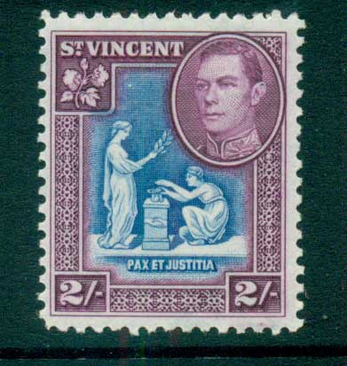 St Vincent 1938-47 KGVI Pictorial 2/- MLH lot72869