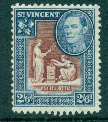 St Vincent 1938-47 KGVI Pictorial 2/6d MLH lot72872