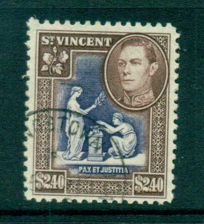 St Vincent 1949 KGVI Pictorial $2.40 FU lot72882