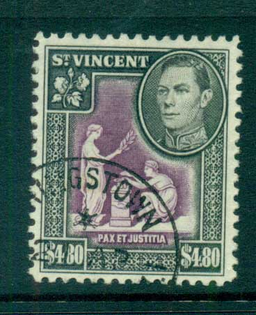 St Vincent 1949 KGVI Pictorial $4.80 FU lot72883