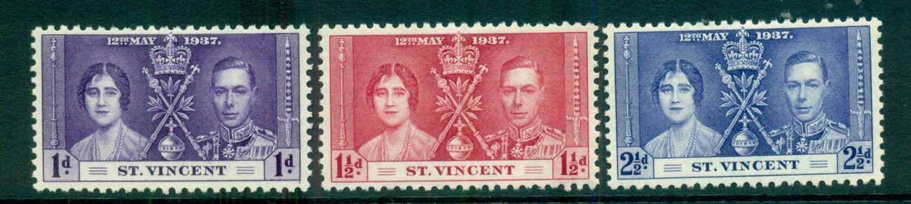 St Vincent 1937 Coronation MLH lot72886