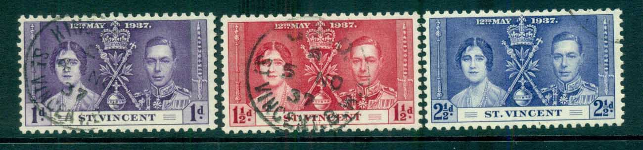 St Vincent 1937 Coronation FU lot72887