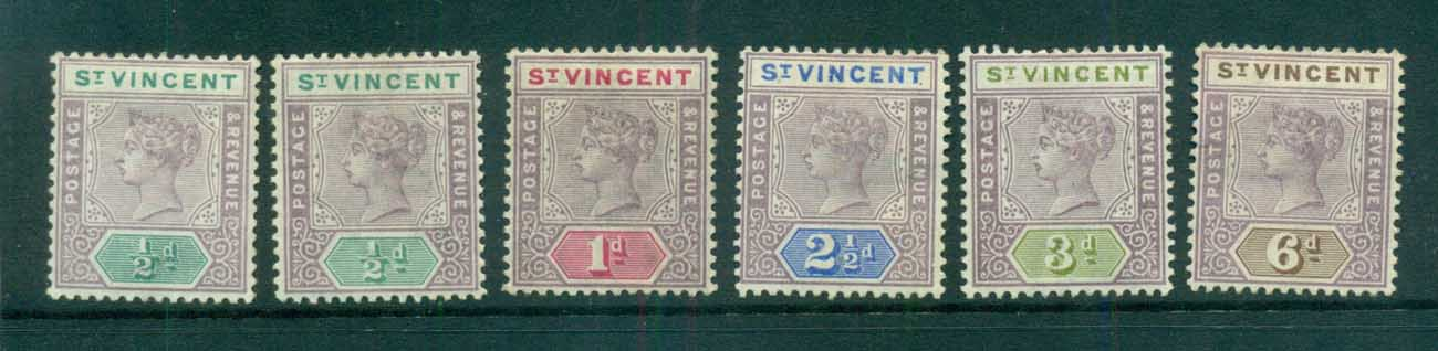 St Vincent 1898 Queen Victoria Asst MH lot72938