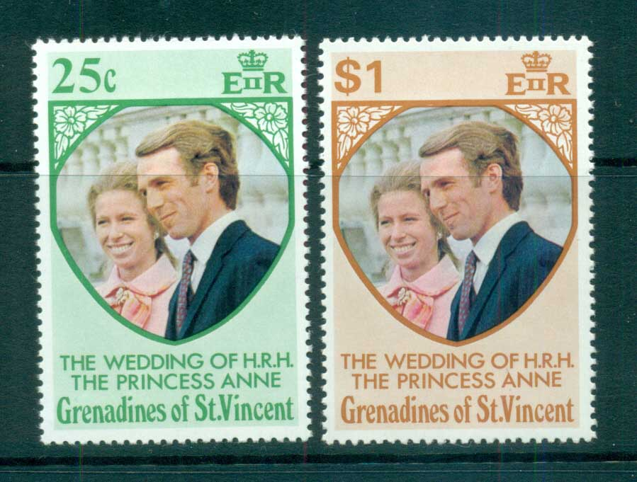 St Vincent Grenadines 1973 Princess Anne Wedding MUH lot72943
