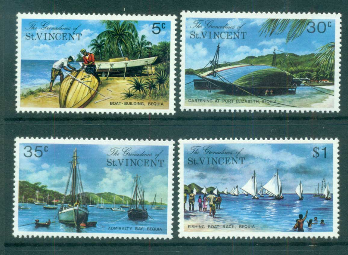 St Vincent Grenadines 1974 Bequia Island Views MUH lot72948
