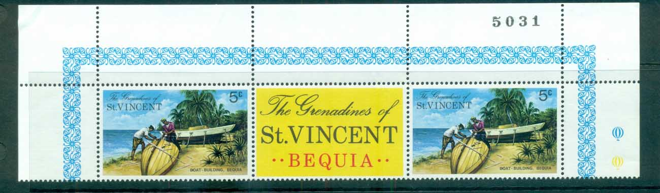 St Vincent Grenadines 1974 Bequia Island Views Block CA Wmk pr MUH lot72949