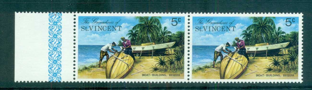 St Vincent Grenadines 1974 Bequia Island Views Block CA Wmk pr MUH lot72950
