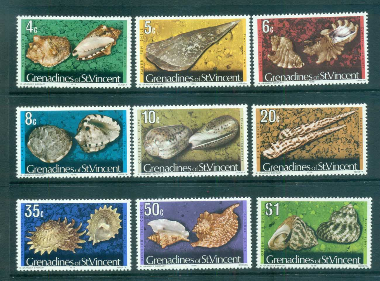 St Vincent Grenadines 1974-76 Shell Definitives 1976 date MUH lot72952