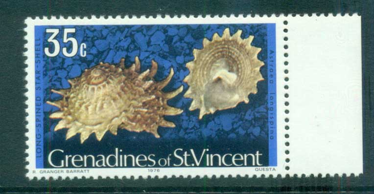 St Vincent Grenadines 1974-76 Shell Definitives 35c, 1976 date MUH lot72957