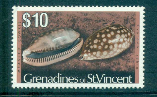 St Vincent Grenadines 1974-76 Shell Definitives $10 MUH lot72958