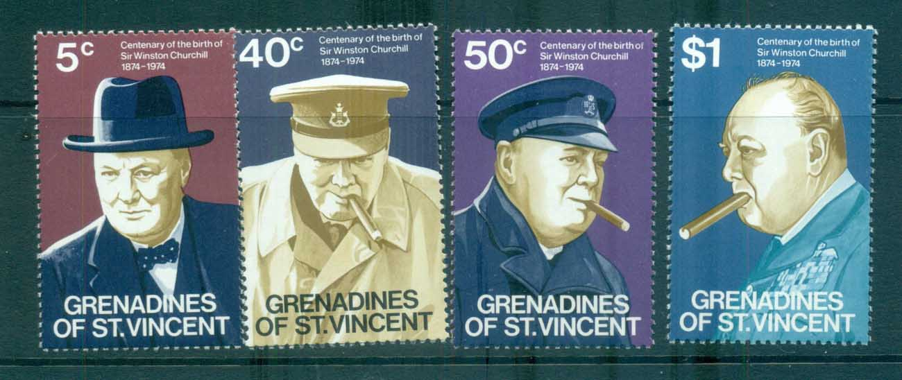St Vincent Grenadines 1974 Churchill MUH lot72959