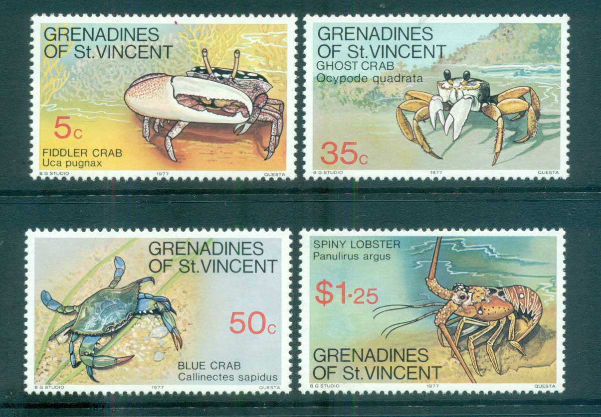 St Vincent Grenadines 1977 Crabs MUH lot72969