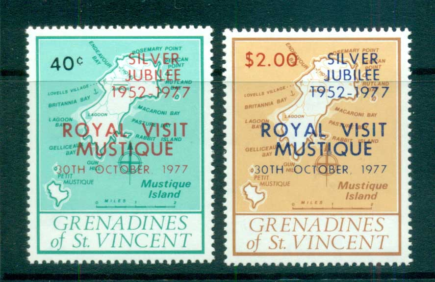 St Vincent Grenadines 1977 Royal Visit to Mustique MUH lot72971