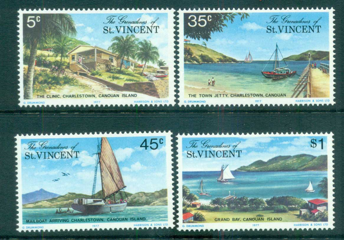 St Vincent Grenadines 1977 Canouan Island Views MUH lot72972