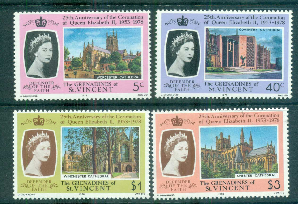 St Vincent Grenadines 1977 QEII Coronation Anniv. MUH lot72973