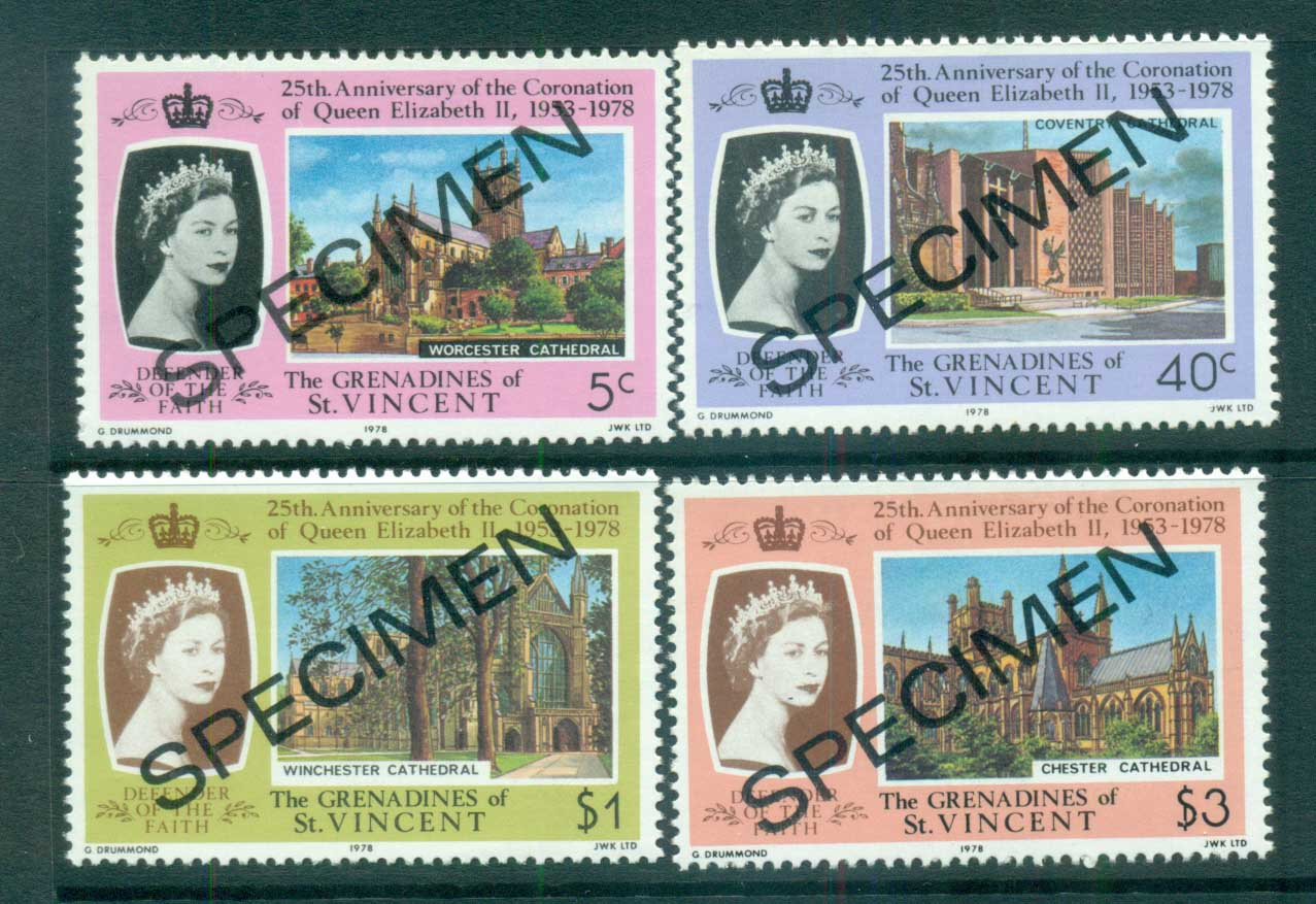 St Vincent Grenadines 1977 QEII Coronation Anniv. SPECIMEN MUH lot72975